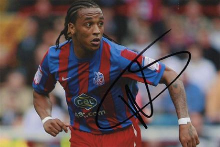 Neil Danns, Crystal Palace, signed 6x4 inch photo.